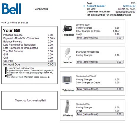 billing and payment bell residential services