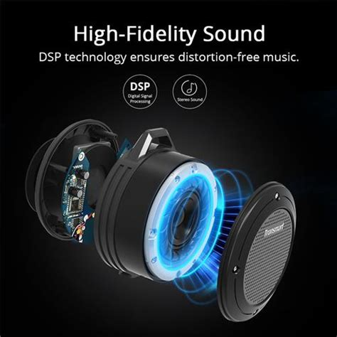 Tronsmart Element Portable Waterproof Bluetooth Speaker T2 tronsmart element t4 5w bluetooth speaker