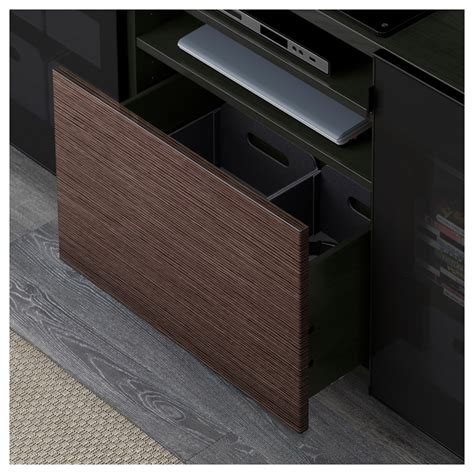 besta drawer best 197 tv bench with drawers black brown selsviken high