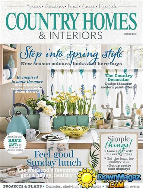 country home design magazines country homes interiors march 2015 187 download pdf