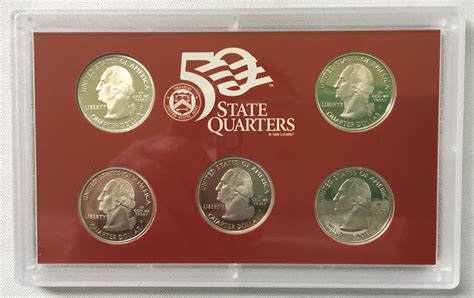 2004 silver proof quarter set 2004 s silver 5 piece quarter proof set for sale buy
