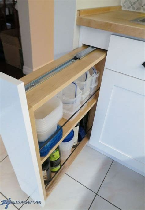 pull out kitchen storage ideas hidden kitchen storage turn a filler panel into a pull out
