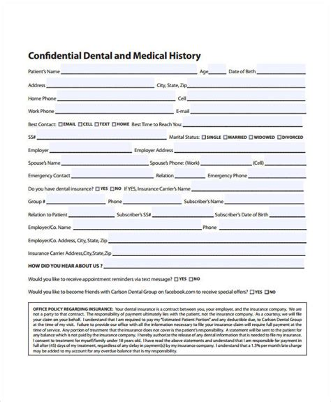 medical history form 9 free pdf documents download