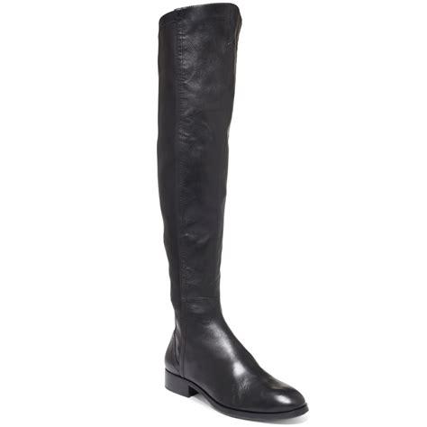 Steve Madden The Knee Boots by Steven By Steve Madden Edeen The Knee Boots In Black Black Leather Lyst
