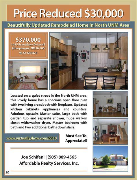 House Floor Plan Sample by Property Flyer 1 Flat Fee Mls Listing Broker