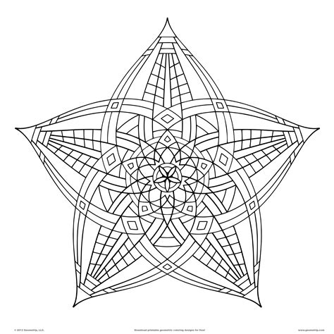 coloring pages printable geometric geometric design coloring pages bestofcoloring com