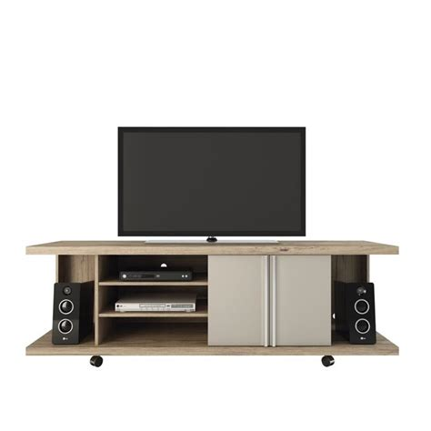 comfort stand manhattan comfort carnegie tv stand in nature and nude 14555