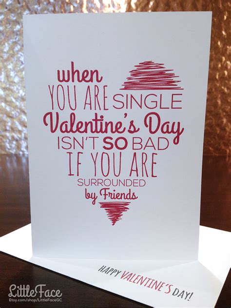 valentines gifts for single friends 20 and etsy s day cards for your best
