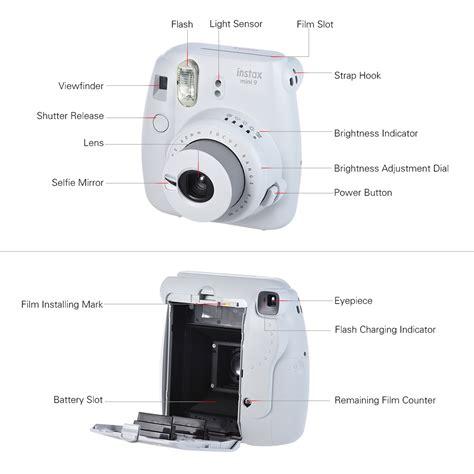 Fujifilm Kamera Instax Mini 9 Blue fujifilm instax mini 9 instant with selfie