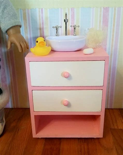 doll sink 18 inch doll bathroom sink vanity cabinet sink with