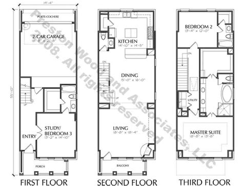 Townhouse Plans by Townhouse Plan D5214 2383 Townhouse Zen Design And
