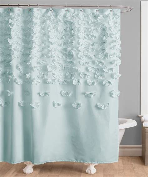 blue shower curtains blue lucia shower curtain