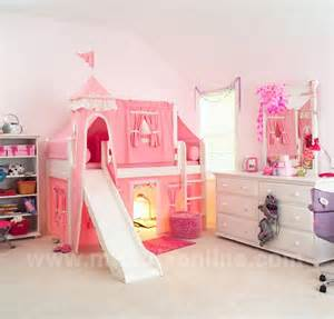 maxtrix princess castle bed w ladder slide