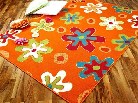 teppich blumen teppich modern trendline orange blumen 4 gr 246 223 en teppiche