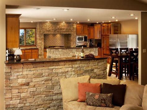 Incroyable Idee Deco Salon Cuisine Ouverte #8: cuisine-semi-ouverte-bar-pierres.jpg