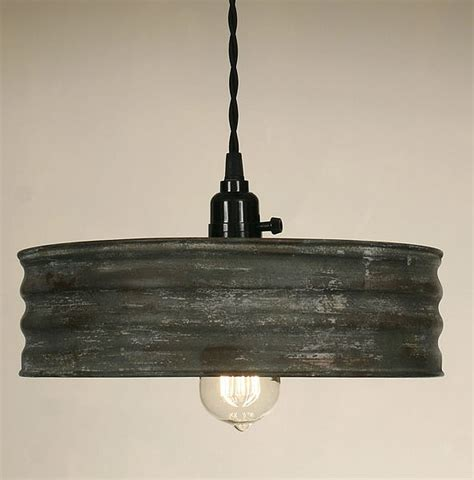 Vintage Pendant Lighting Vintage Rustic Primitive Industrial Sifter Pendant Light L Textured Gray Ebay