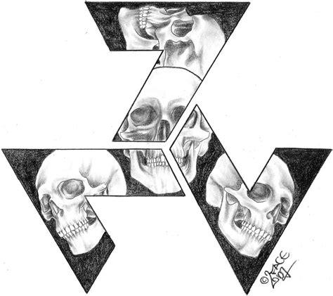 nazi tattoo designs skull triskele design by 2face on deviantart
