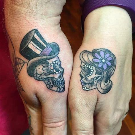 skull tattoo for couples the 25 best skull couple tattoo ideas on pinterest