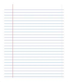 printable notebook paper 9 free pdf documents download