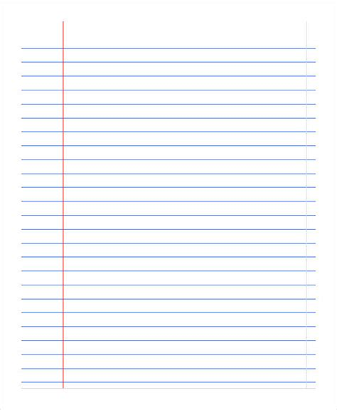 printable lined notepad paper printable notebook paper 9 free pdf documents download