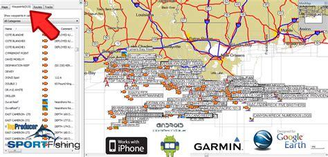 louisiana fishing map louisiana offshore fishing maps