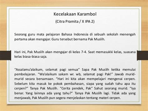 membuat teks anekdot dalam bentuk dialog teks anekdot bahasa indonesia citra pramita