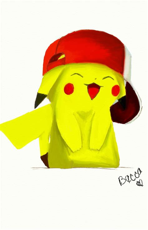 cute pikachu cute pikachu with hat by pikachu in ash s hat by raspberrybecca on deviantart