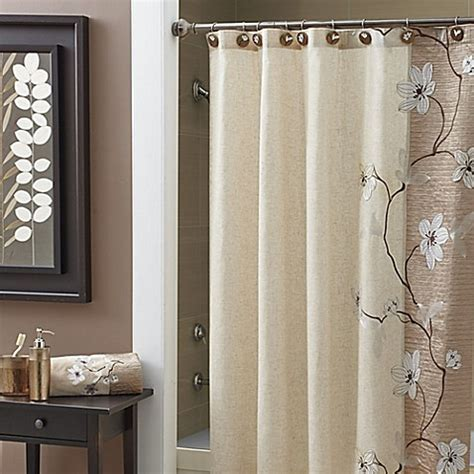 bed bath and beyond extra long shower curtain buy croscill 174 magnolia 84 inch x 72 inch extra long shower