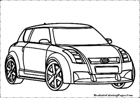 coloring pages of real cars suzuki cars coloring pages realistic coloring pages