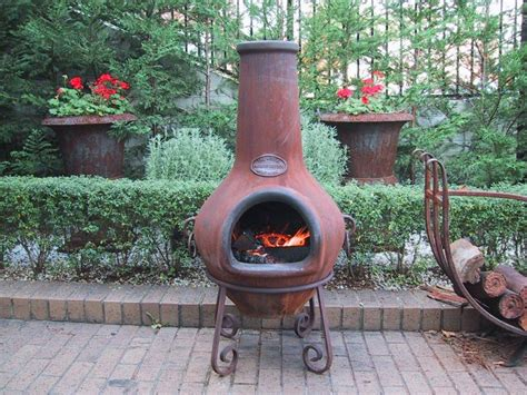 Putting A Flue On A Chiminea by Chimney Pit Clay Pit Design Ideas