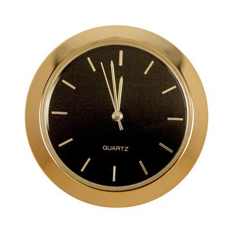 Decorative Wall Clock by 1 7 16 In Mini Clock Black Face Gold Indicators At