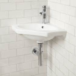 bathroom corner sinks borden porcelain wall mount corner sink bathroom