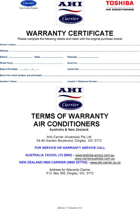 warranty certificate templates download free premium