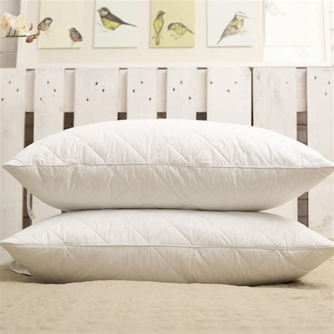 country home pillow bicor pillows bicor processing white cotton quilted fiber pillow feather piece factory