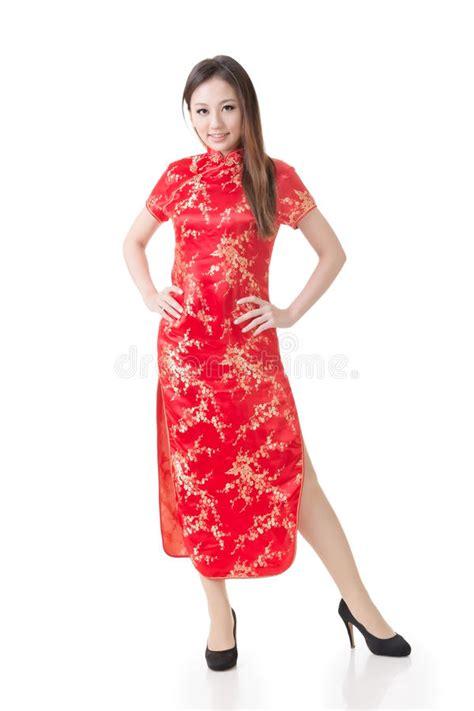 new year cheongsam dress traditional cheongsam stock image
