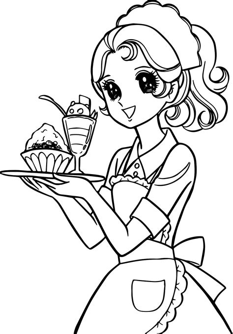 coloring pages for your girlfriend aeromachia service girl waiter coloring page wecoloringpage