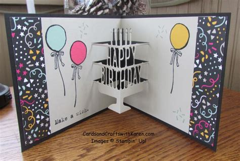 brothers birthday card featuring party pop  thinlits  stampin   stampers