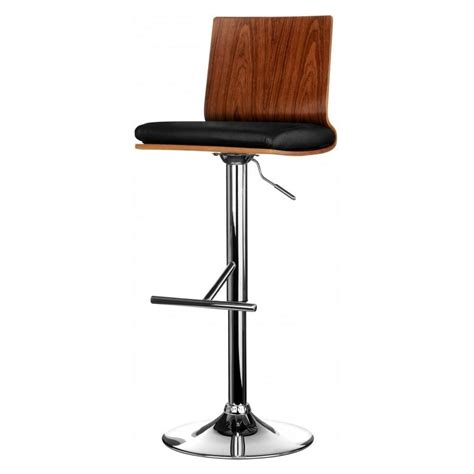 bar stool buy buy walnut and black faux leather bar stool from fusion living