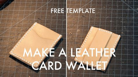 credit card holder template a leather card wallet build along tutorial free