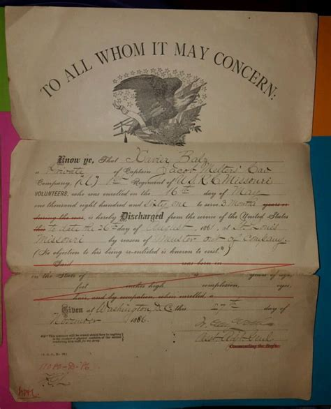 Civil War 1861 Essay by Discharge Papers Collectibles Vintage Collectibles For Sale