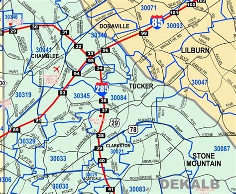 map of atlanta with exits atlanta metro wall map large zip codes laminated