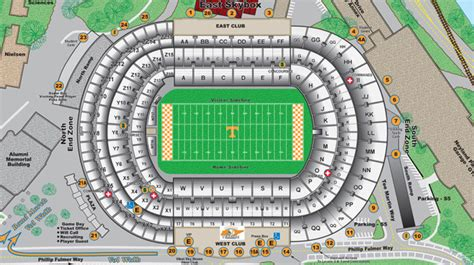 university of texas stadium map university of tennessee official athletic site facilities