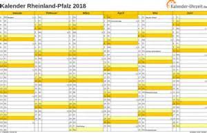 Kalender 2018 Mit Feiertagen Rlp Feiertage 2018 Rheinland Pfalz Kalender