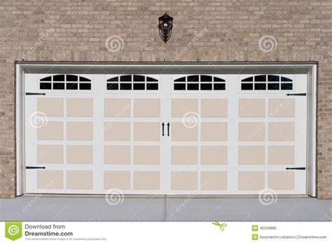 2 door garage two car garage door stock photo image 45318880