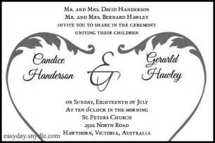 wedding reception wording sles from and groom wedding reception invitation wording sles from and groom iidaemilia
