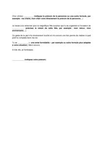 Exemple De Lettre De Remerciement à Un Notaire Lettre De Remerciement Suite 224 L Organisation D Une F 234 Te Mod 232 Le De Lettre Gratuit