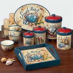 beach themed kitchen canisters 1000 images about certified international on pinterest