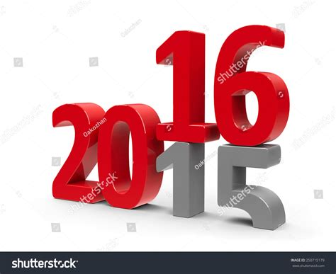 new year represents 2015 2016 change represents the new year 2016 three