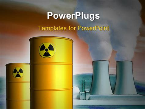 ppt templates for nuclear powerpoint template radioactive waste from a nuclear