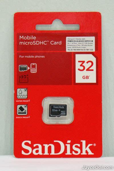 Sandisk Micro Sd 32gb Class 4 32gb sandisk microsdhc class 4 card review jayceooi